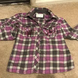 Plaid button-down shirt Girls